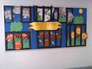 Kindergarten Zoo Bulletin Board