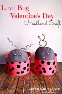 Love Bug Valentine's Day Headband Craft