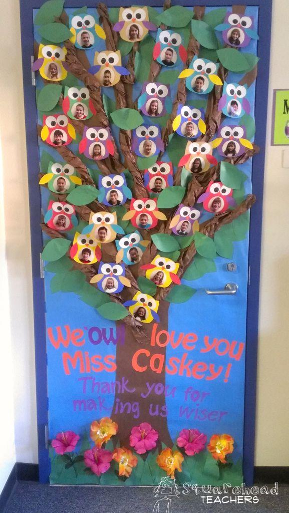 Owl Classroom Door