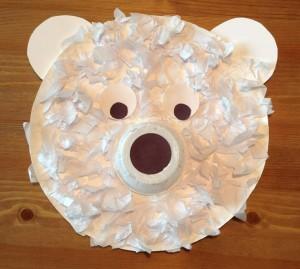 Paper Plate Polar Bear Craft