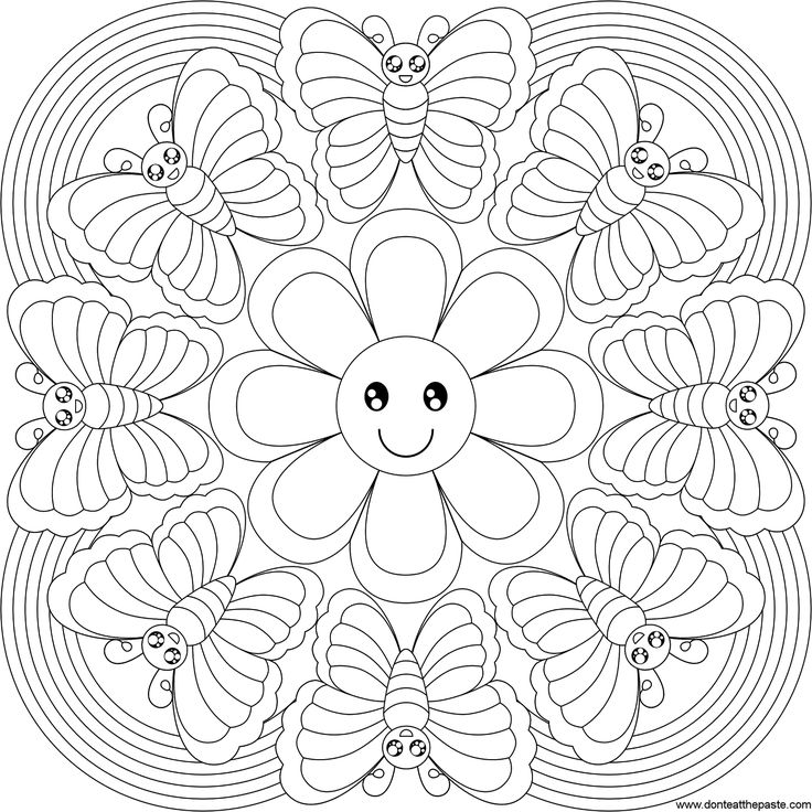 Rainbow Butterfly Mandala Crafts And Worksheets For Preschool
