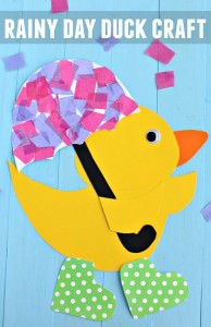 Rainy Day Duck Craft for Spring