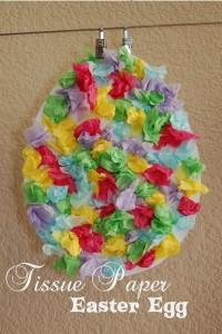 Tissue Paper Easter Egg