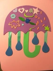 Umbrella craft for Spring unit