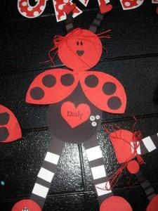 Valentine's Day ladybug craft idea