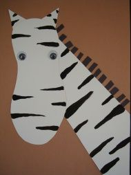 Zoo - zebra craft