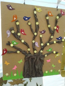 bird bulletin board idea for kids