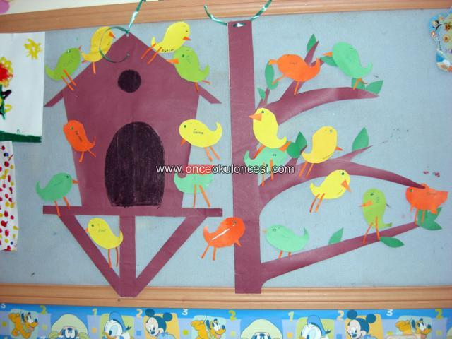 bird bulletin board ideas