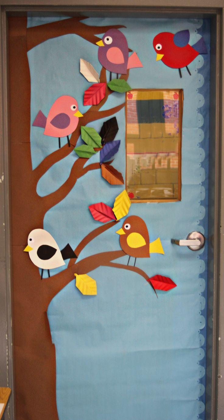 bird classroom door decorations