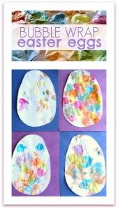 bubble wrap easter egg craft