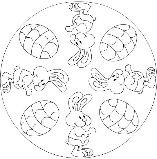 bunny mandala