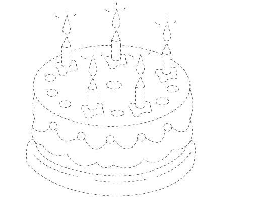 cake trace worksheet