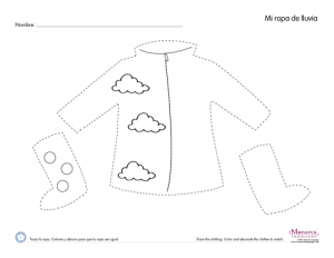clothes trace worksheets