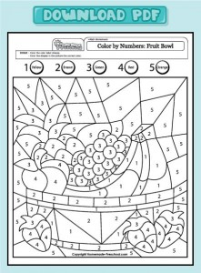 color basket by number