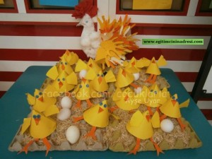 cone shaped hen bulletin board