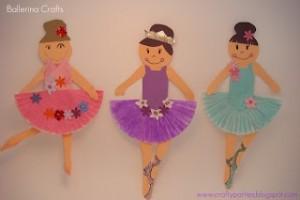 cupcake liner ballet craft