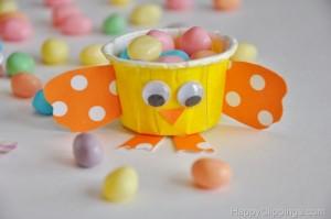 cupcake liner chick craft