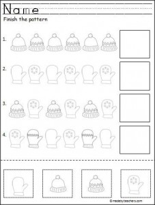 cut and paste pattern activity for winter