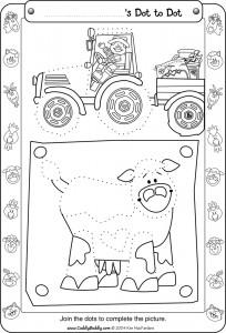 dot to dot farm worksheet