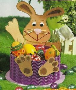 easter bunny basket craft idea for kids (3)