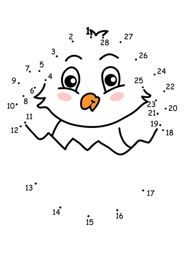 easter chick dot to dot