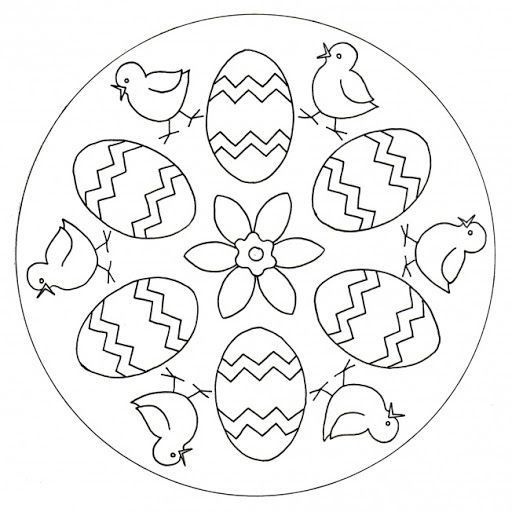 easter mandala coloring page