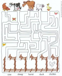 farm animal worksheets for kids