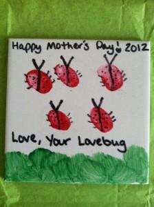 fingerprint ladyybug craft