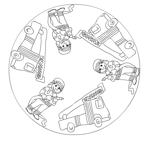 Fire Truck Mandala Crafts And Worksheets For Preschool Toddler