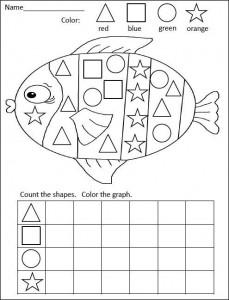 fish shape graph worksheet