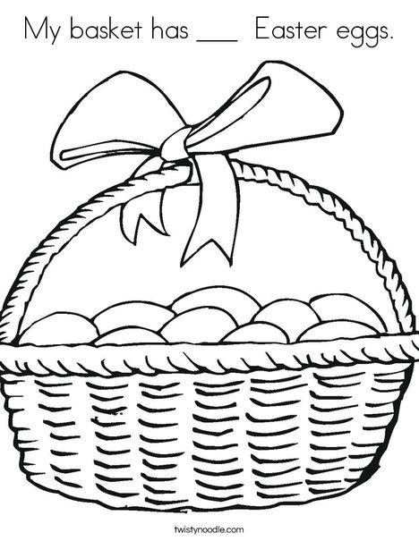 free easter basket coloring