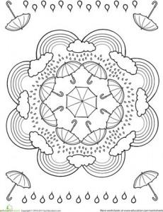 free printable spring mandala