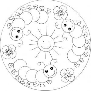 free spring mandala coloring
