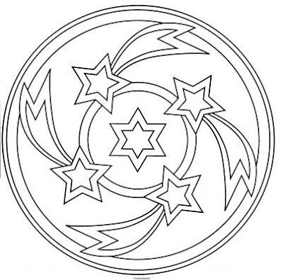 free star mandala coloring