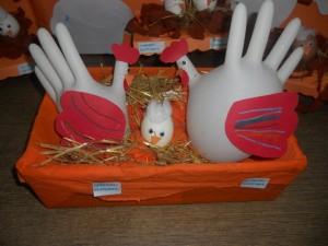 gloves hen craft