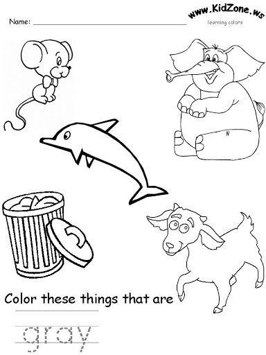 gray color worksheet