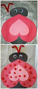 heart ladybug craft