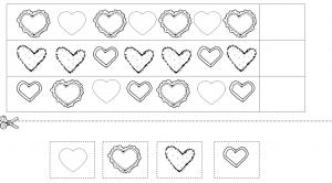 heart pattern worksheet