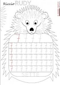 hedgehog number 7 trace worksheet