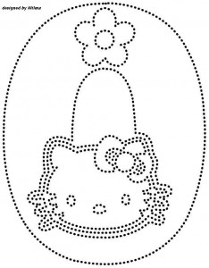hello kitty number 0 trace worksheet