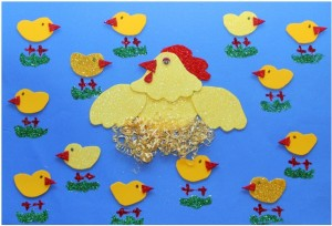 hen and chick bulletin board