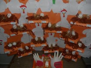 hen house bulletin board idea