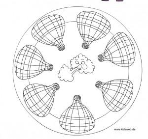 hot air balloon mandala