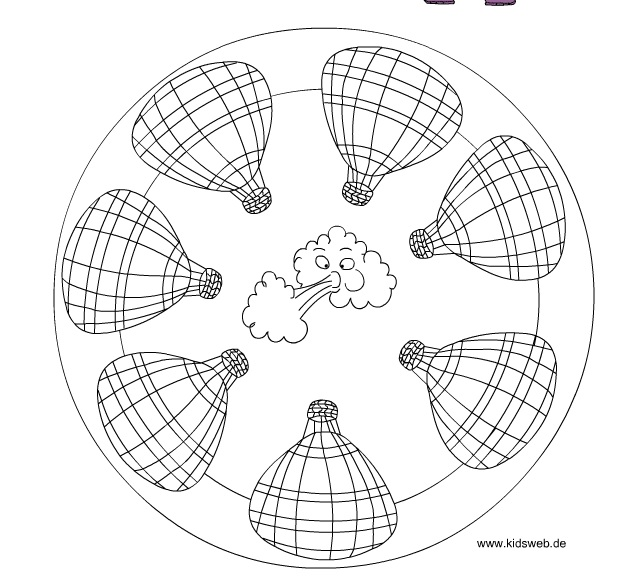 Hot Air Balloon Mandala Crafts And Worksheets For Preschool