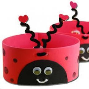 ladybug head band craft