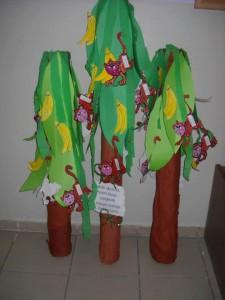 monkey and banana tree bulletin board