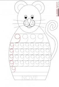 mouse number 9 trace worksheet