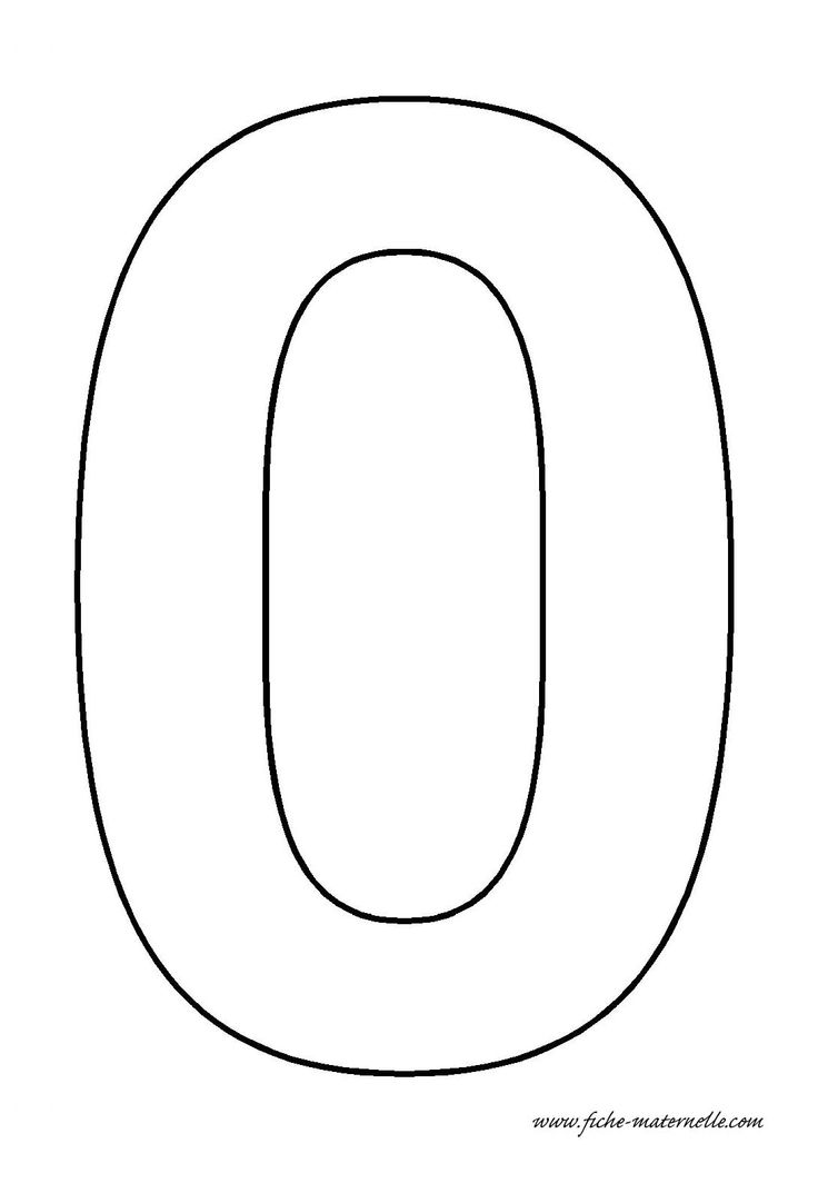 number 0 template