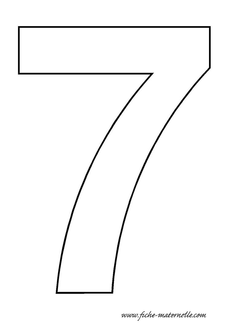 number 7 template
