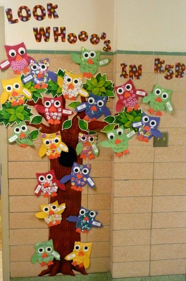 owl classroom door decorations